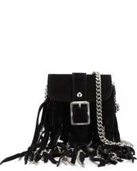 Saint Laurent Mini Fringed Crossbody
