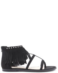 Forever 21 Fringe Caged Sandals