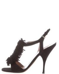 Alaia Alaa Suede Fringe Sandals