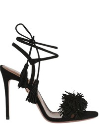 Aquazzura 105mm wild things fringed suede sandals medium 1063644