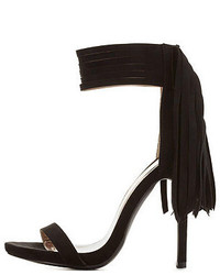 Charlotte Russe Fringe Single Sole Ankle Strap Heels
