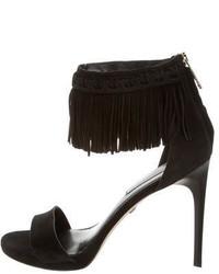 Diane von Furstenberg Suede Fringe Sandals