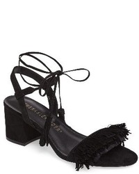 Fringed ankle wrap sandal medium 1063647