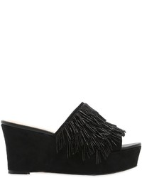 Katy Perry 90mm Liza Beaded Fringe Suede Mules