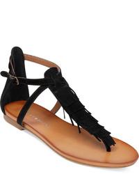 Lucky Brand Wekka Fringe Flat Thong Sandals
