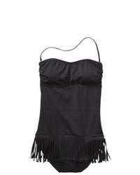 In Mocean Group Mossimo 1 Piece Swimsuit W Fringe Black L