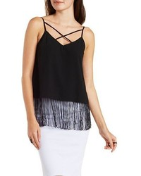 Strappy Layered Fringe Tank Top
