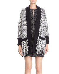 Burberry Glasshouse Fringed Wool Sweater Jacket