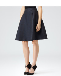 Reiss Andrea Textured Circle Skirt