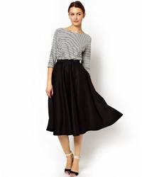 Asos Full Midi Skirt In Scuba