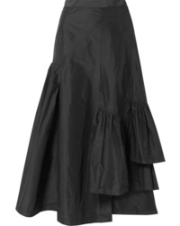 3.1 Phillip Lim Asymmetric Ruffled Silk Taffeta Midi Skirt