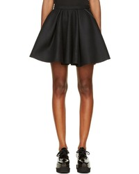 Avelon Black Wool Full Lenglen Mini Skirt