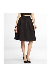 Express High Waist Full Skirt Black 8