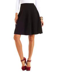 Charlotte Russe Geo Quilted Full Midi Skirt