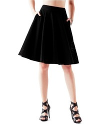 GUESS High Rise Pointelle Circle Skirt