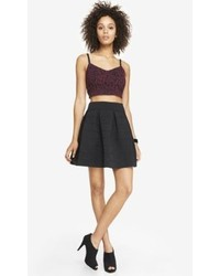 Express High Waist Elastic Full Skirt Black