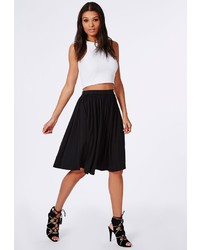 Missguided Bella Full Jersey Midi Skirt Black