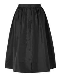 Deitas Nina Silk Satin Midi Skirt