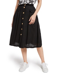 ModCloth Pleat Midi Skirt