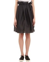 Yang Li Pleated Circle Skirt Black