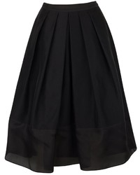 Tibi Techno Faille Pleated Skirt 4