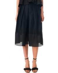 Tibi Techno Faille Full Skirt