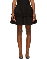 J Brand X Simone Rocha Black Ruffled Denim Skirt