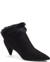Aquatalia by Marvin K Antonia Genuine Rabbit Fur Trim Weatherproof Bootie