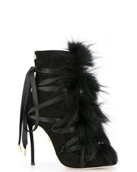 Dsquared2 Faux Fur Embellished Boots