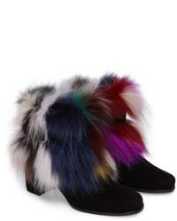 Stuart Weitzman Midgofurit Genuine Fox Fur Bootie