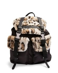 Topshop Boston Faux Fur Backpack