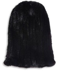 Surell Mink Fur Slouch Beanie
