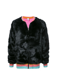 The Elder Statesman Faux Fur Bomber Jacket