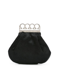 Jean Paul Gaultier Vintage Knuckle Duster Faux Fur Clutch