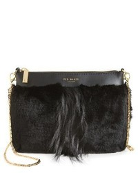 Ted Baker London Barbera Faux Fur Crossbody Bag Black