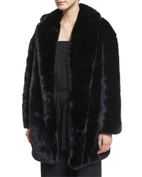 MCQ Alexander Ueen Faux Fur Coat Black