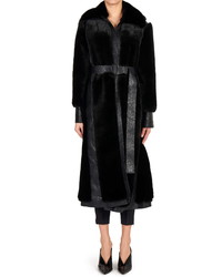 Stella McCartney Belen Faux Fur Faux Leather Coat