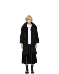 Youths in Balaclava Black Faux Fur Coat