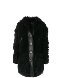 Kenzo Buttoned Shearling Coat