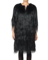 Max Studio By Leon Max Long Hair Fur Coat