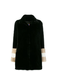 La Seine & Moi Carene Fur Sleeved Coat