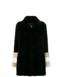 La Seine & Moi Carene Fur Sleeved Coat