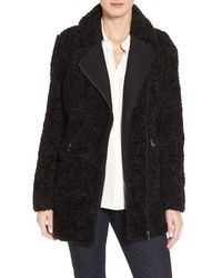 Catherine Catherine Malandrino Asymmetric Faux Fur Car Coat
