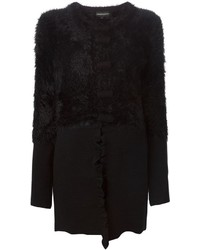 Emporio Armani Faux Fur Panelled Coat