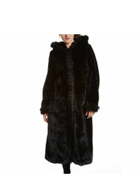 Excelled Leather Excelled Faux Fur Long Solid Coat