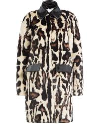 Carven Faux Fur Coat