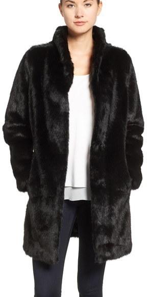 Eliza J Faux Mink Fur Coat | Where to buy & how to wear