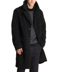 KARL LAGERFELD PARIS Fleece Top Coat