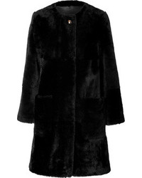 Marc by Marc Jacobs Fur Coat In Black