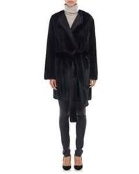 The Row Fur Narston Coat Black